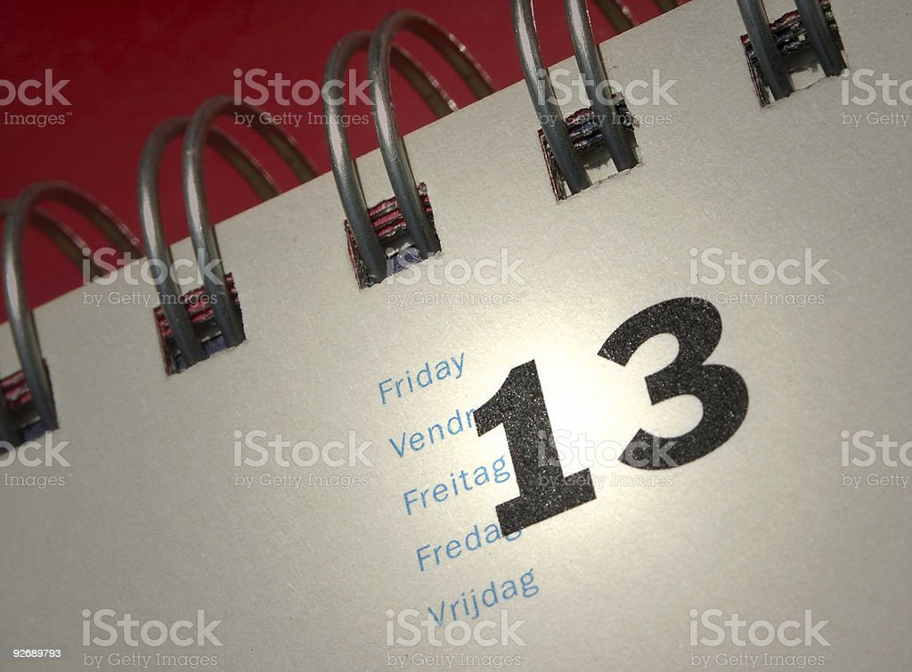 Friday 13 royalty-free stock photo