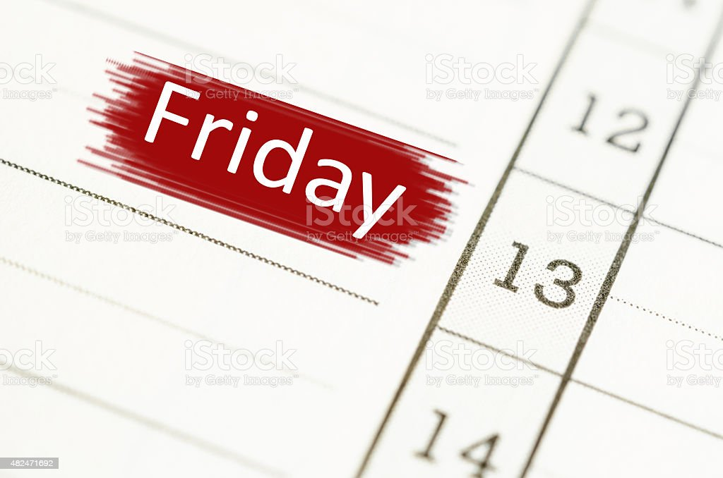 Friday 13th. stock photo