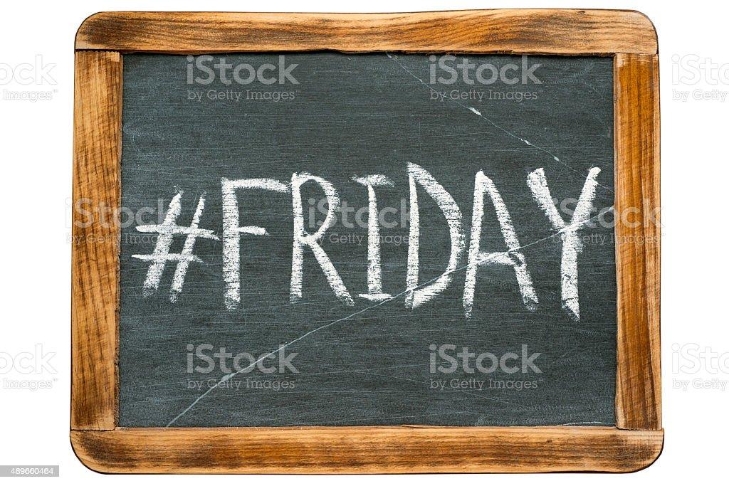 Friday hashtag stock photo