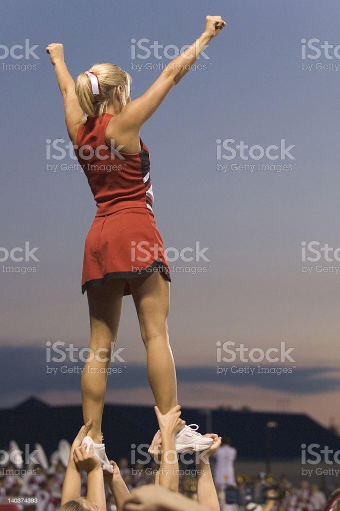 Friday Night Cheerleader royalty-free stock photo