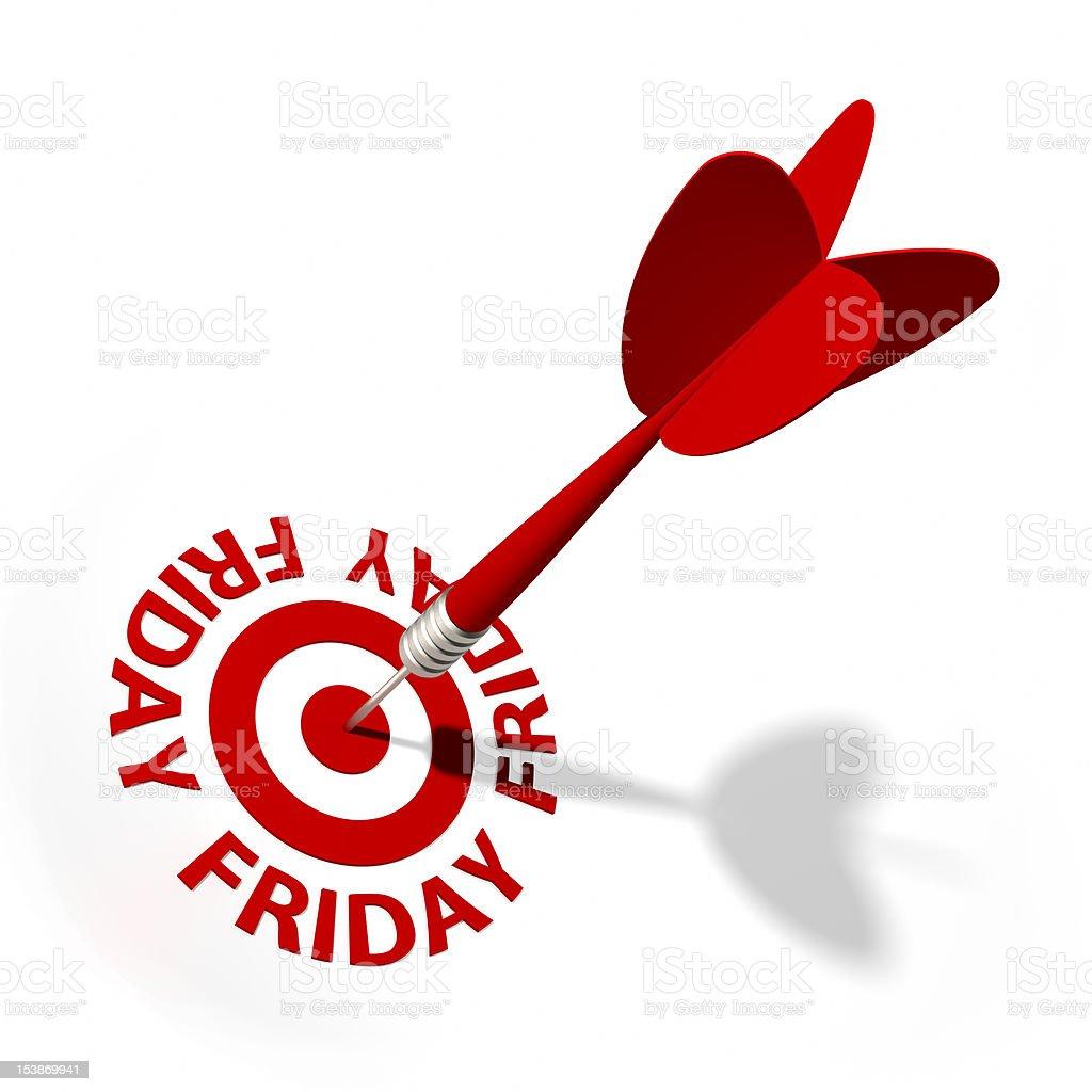 Friday Target royalty-free stock photo