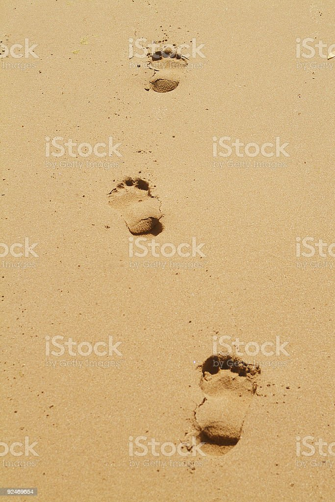 Fridays Footprints stock photo