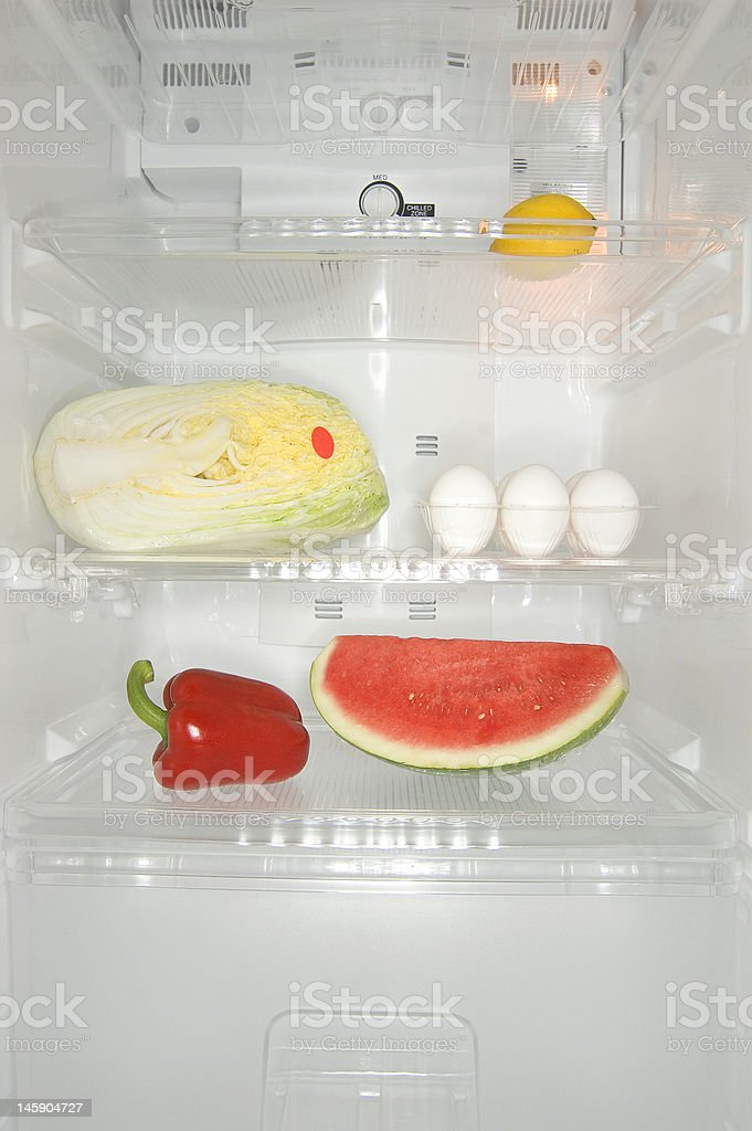 Fridge contents royalty-free stock photo