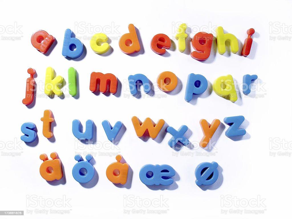 fridge letters- lowercase stock photo