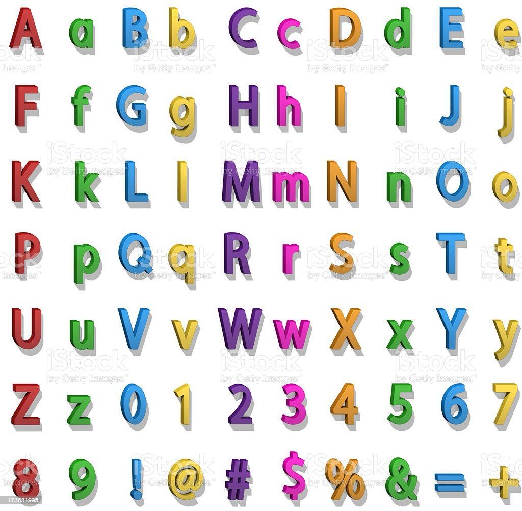 Fridge Magnet Alphabet stock photo