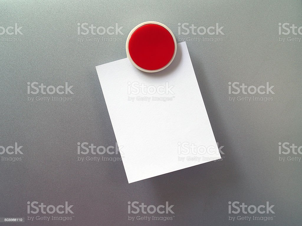 Fridge Magnet and blank note stock photo