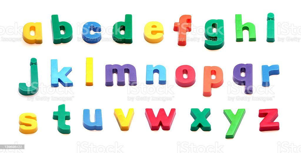 ABC Fridge magnet letters royalty-free stock photo