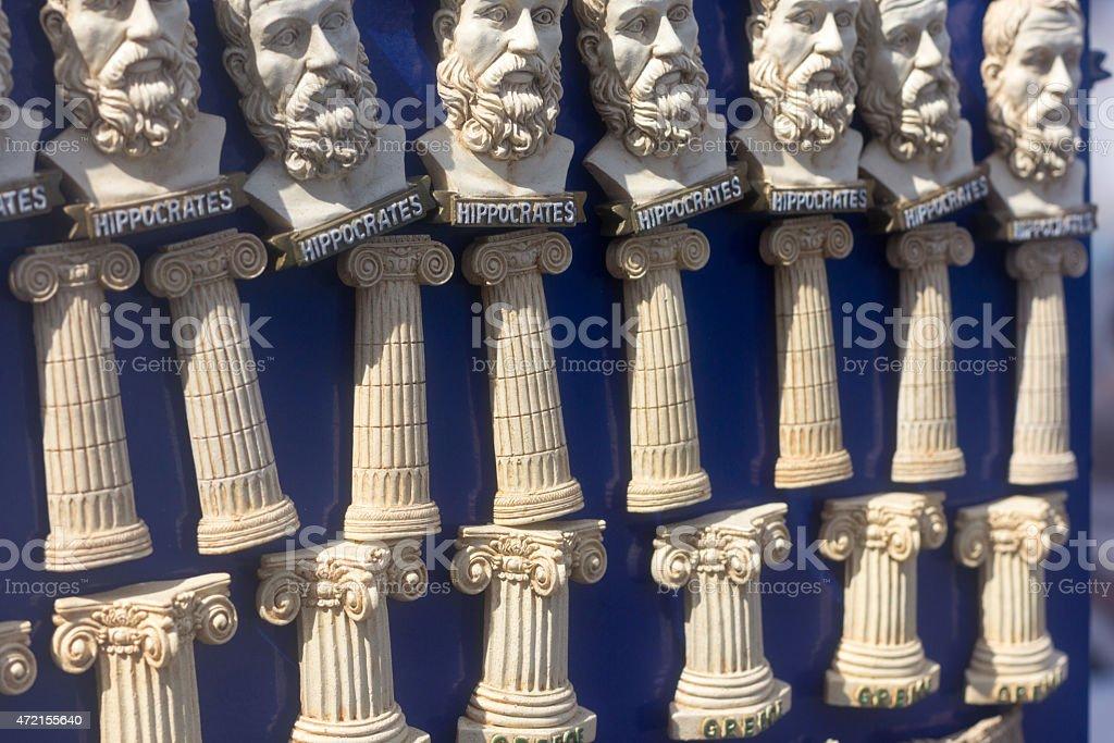 Fridge Magnets in Mykonos Town, Greece stock photo