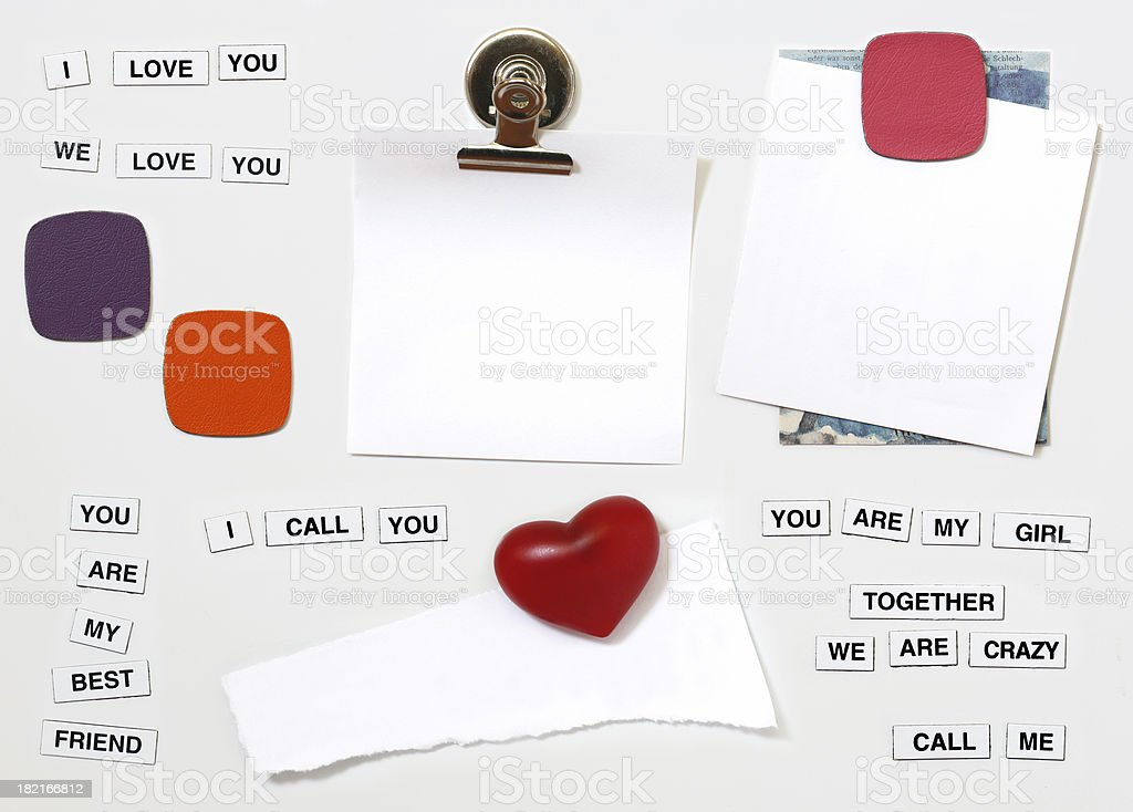 Fridge messages royalty-free stock photo