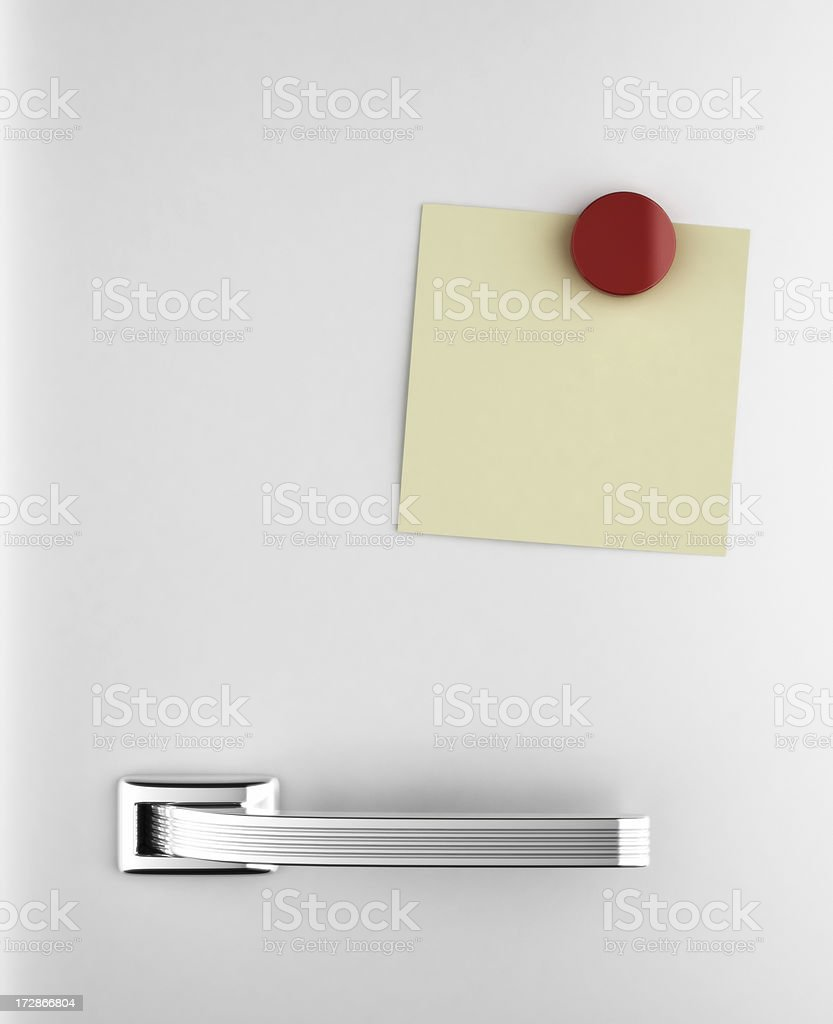 Fridge Note stock photo