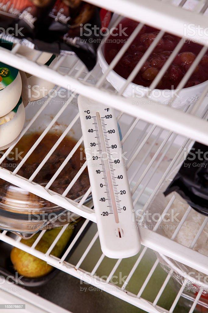 Fridge temperature stock photo