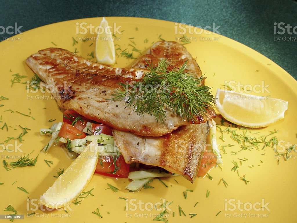 Fried a fish royalty-free stock photo