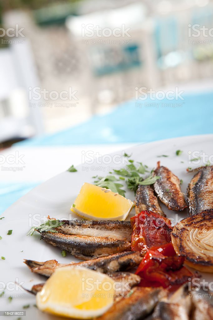Fried Anchovy royalty-free stock photo