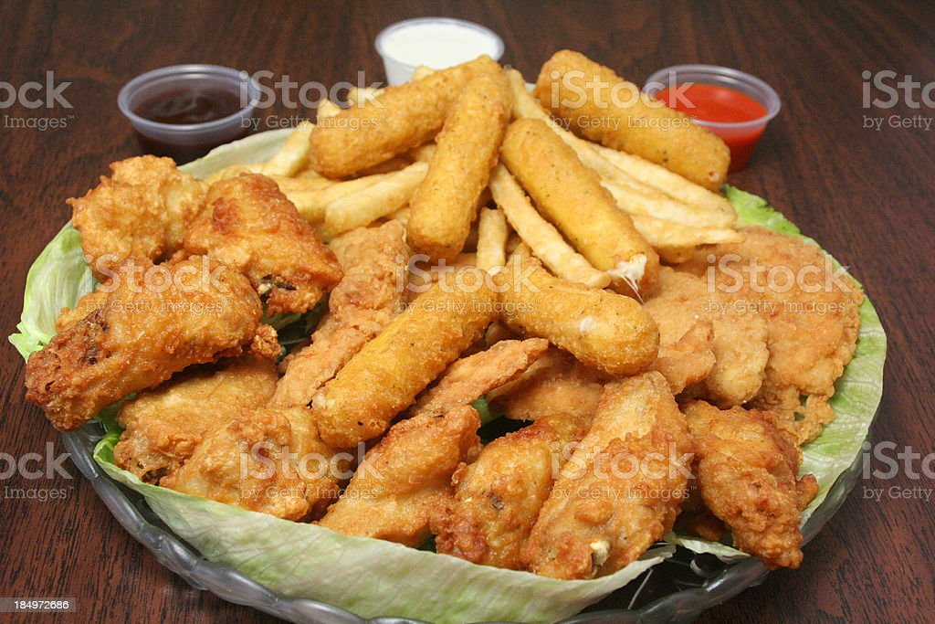 Fried Appetizers royalty-free stock photo