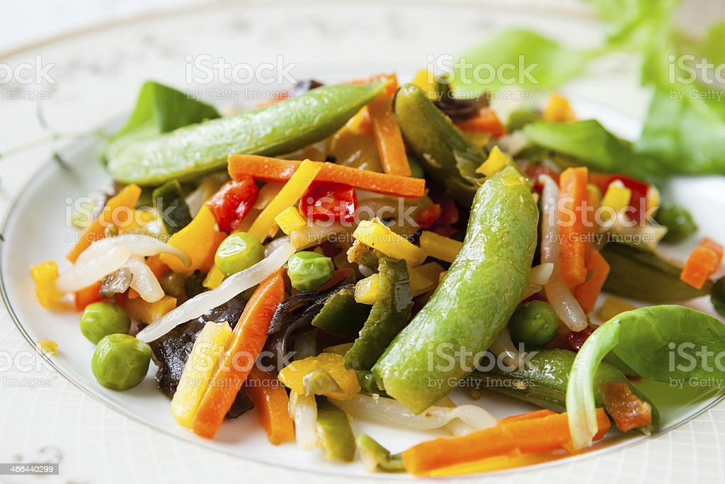 fried Assorted vegetables stock photo
