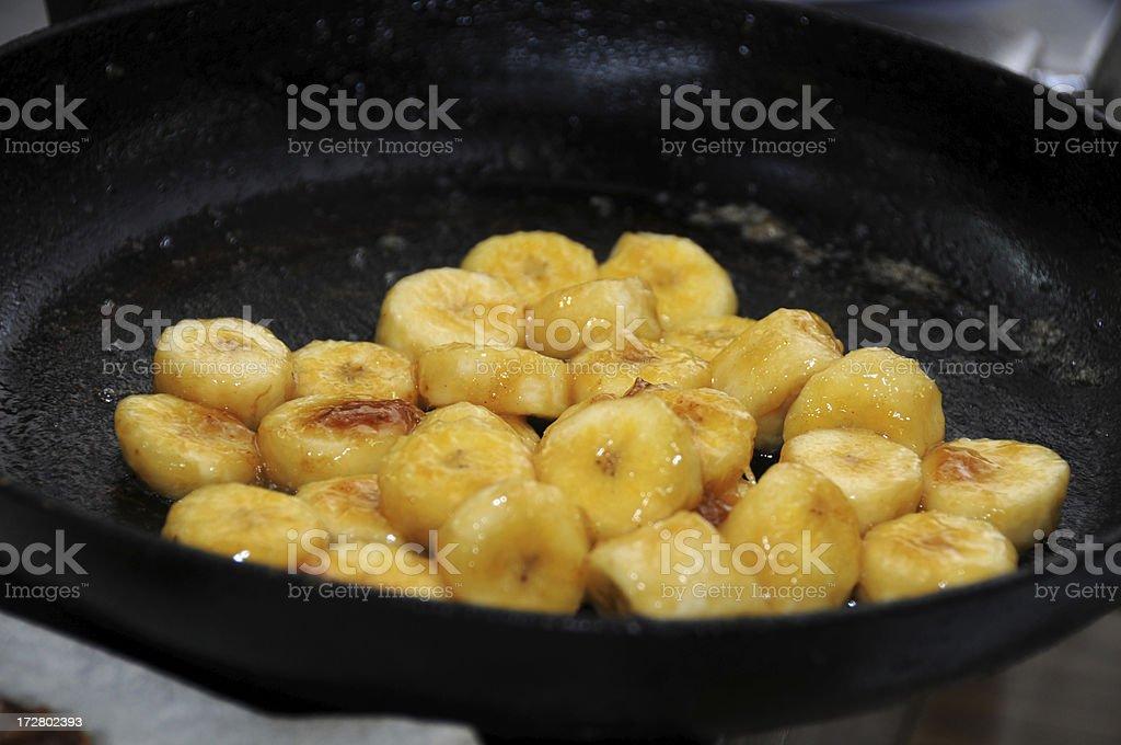 fried banana stock photo