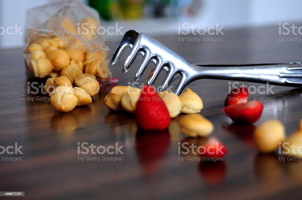 fried batter pearl for fruit soup royalty-free stock photo