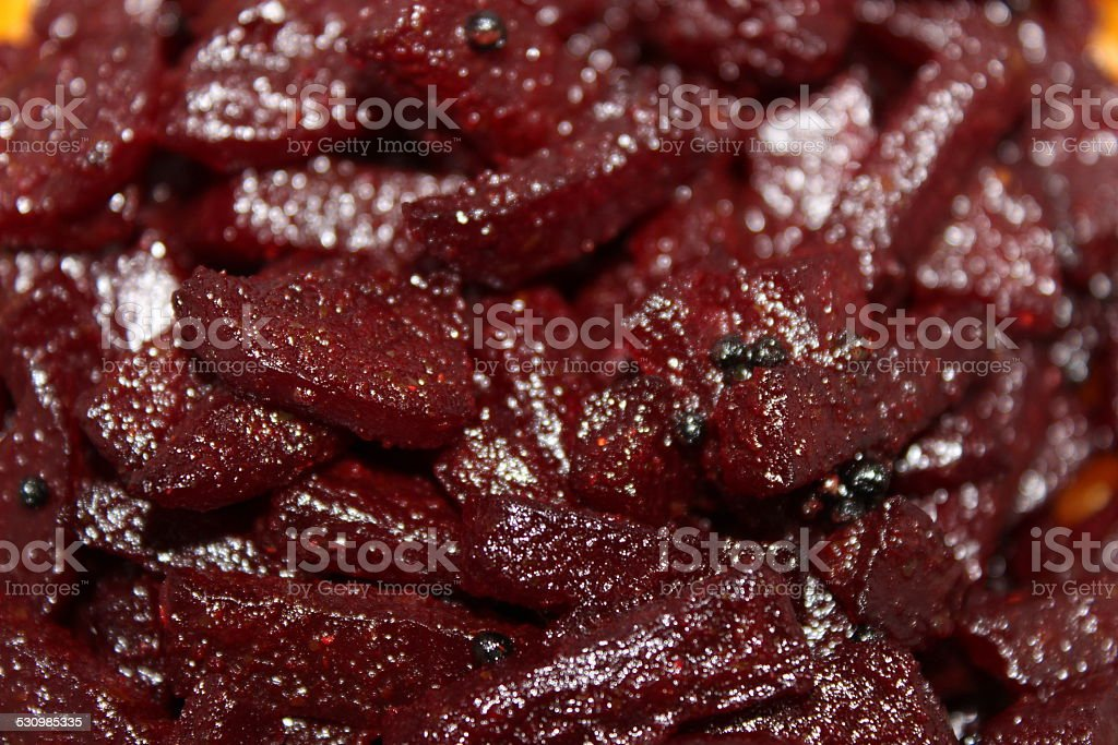 Fried Beetroot royalty-free stock photo