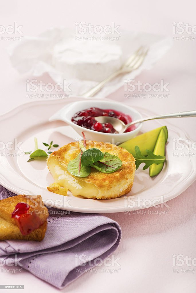 fried camembert/Queijo camembert Frito foto royalty-free