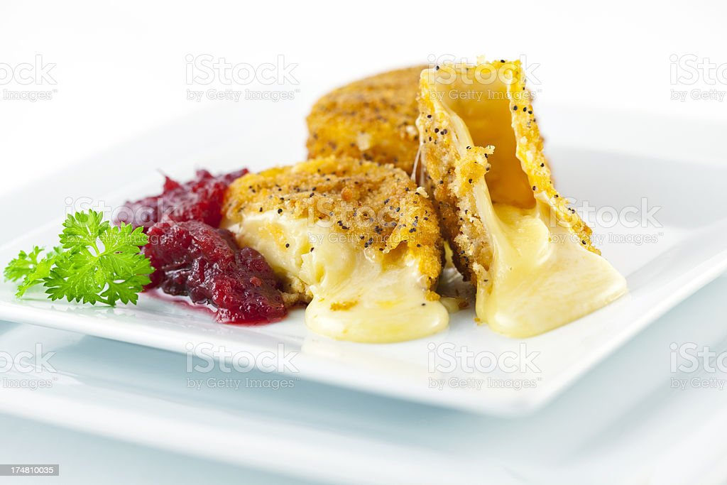 Fried Camembert stock photo