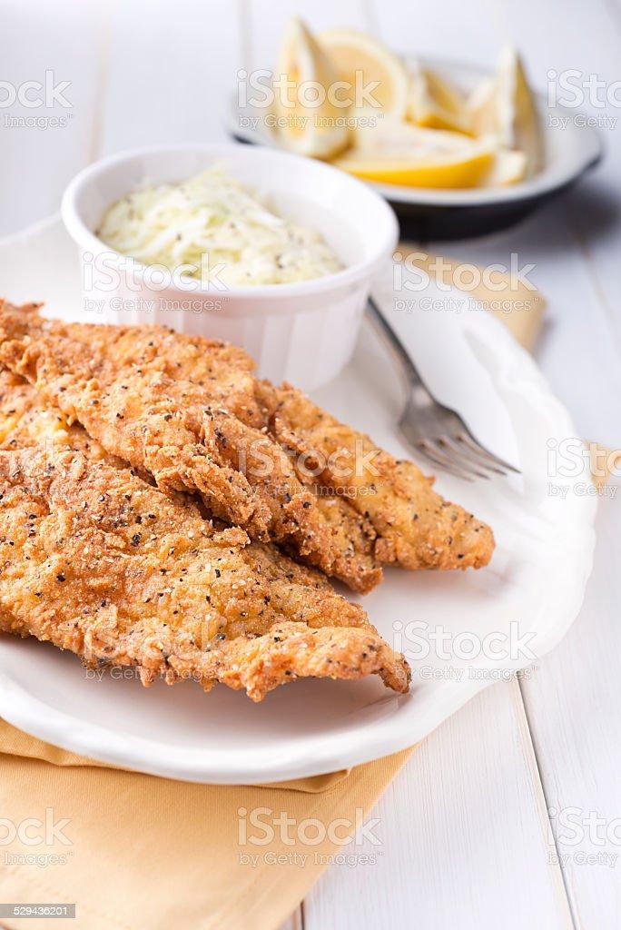 Fried Catfish stock photo