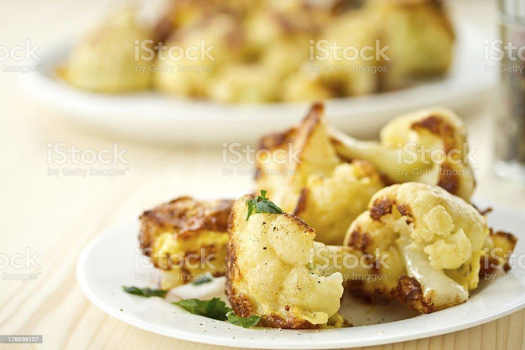 fried cauliflower royalty-free stock photo