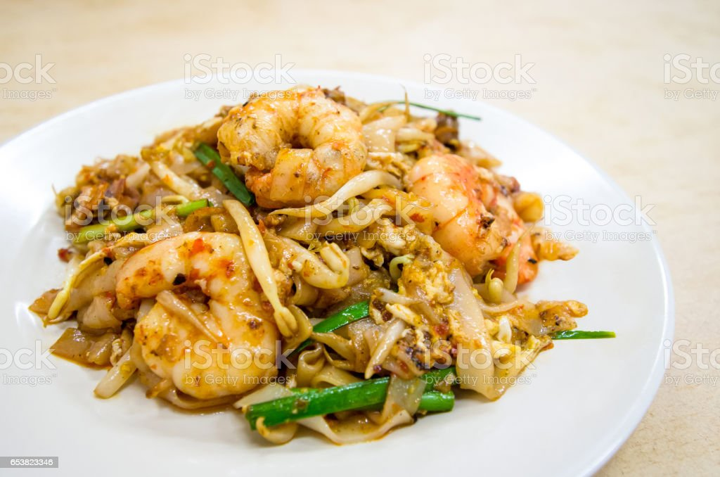 Fried Char Kway Teow stock photo