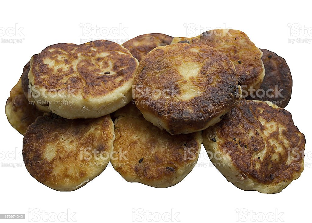 Fried cheese Pancakes. royalty-free stock photo