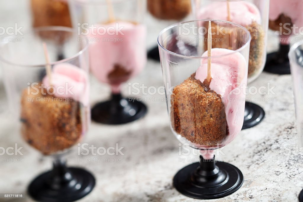 Fried cheese snack. Stock Image stock photo