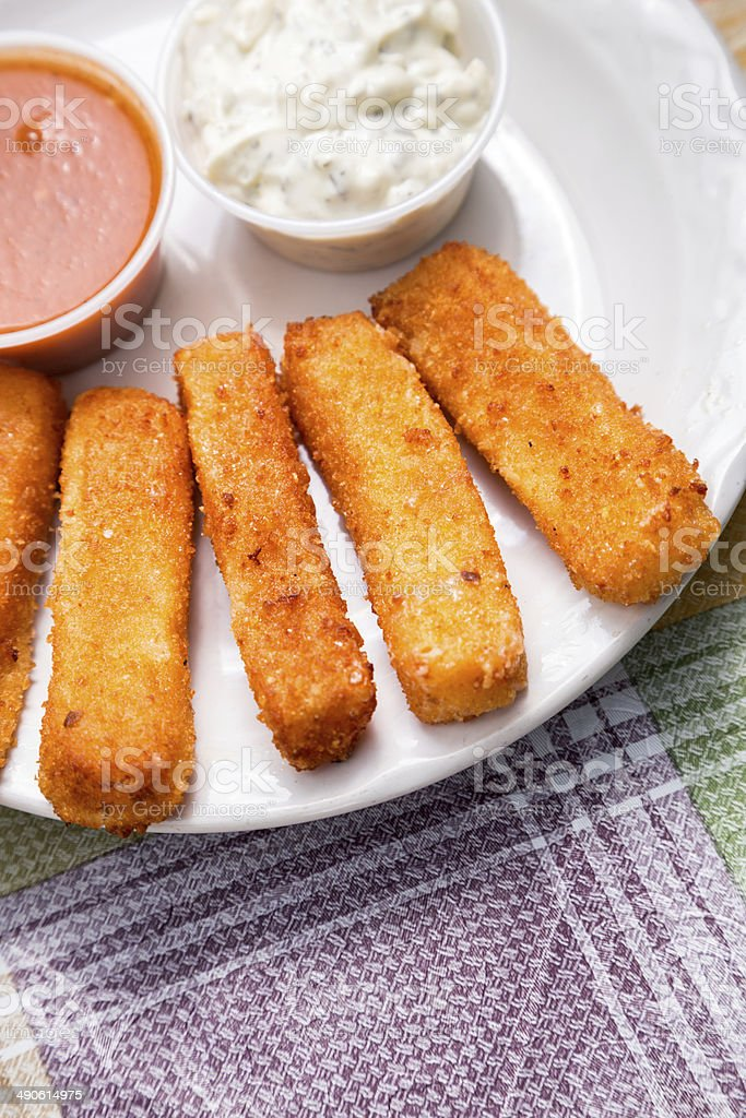 Fried Cheese Sticks stock photo