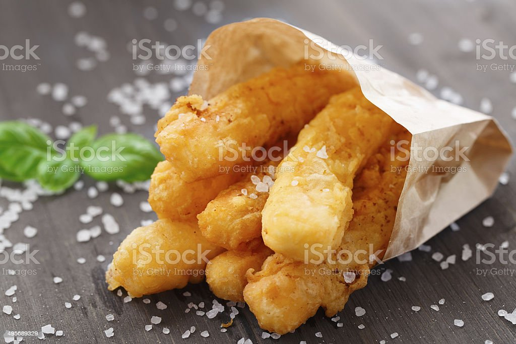 Fried cheese sticks royalty-free stock photo