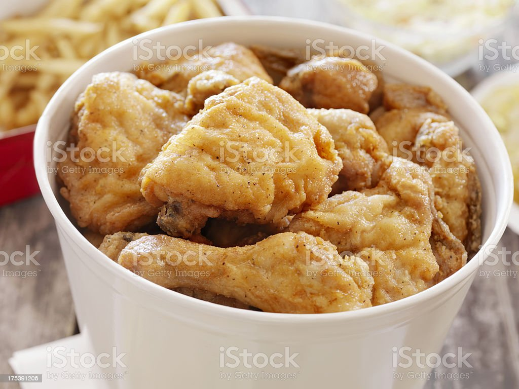 Fried Chicken at a Picnic stock photo