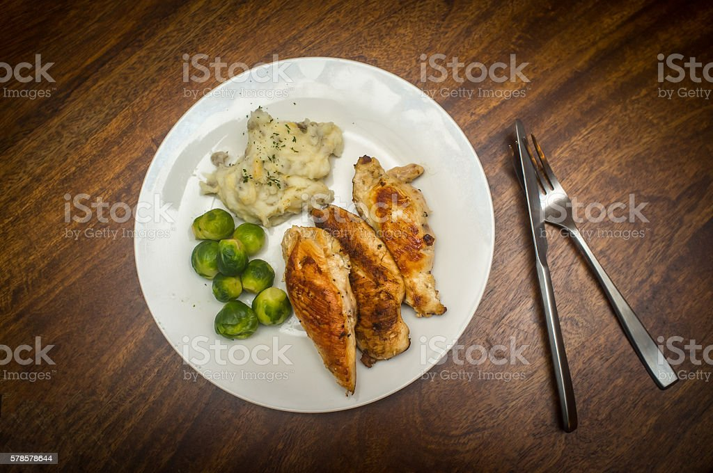 Fried Chicken Breast stock photo