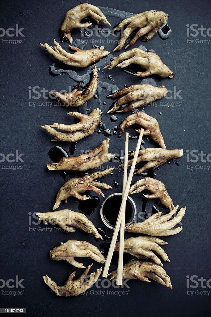 Fried Chicken Feet stock photo
