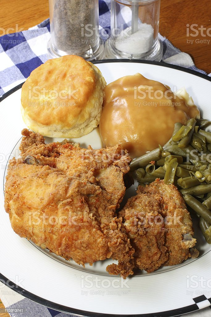 Fried Chicken meal royalty-free stock photo