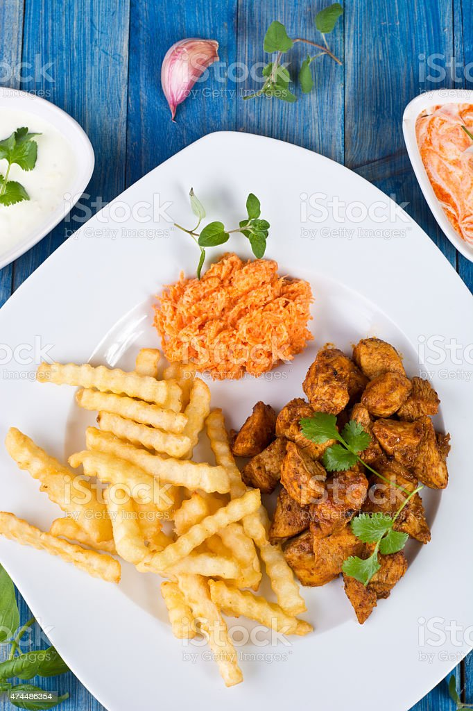 Pollo frito foto de stock libre de derechos