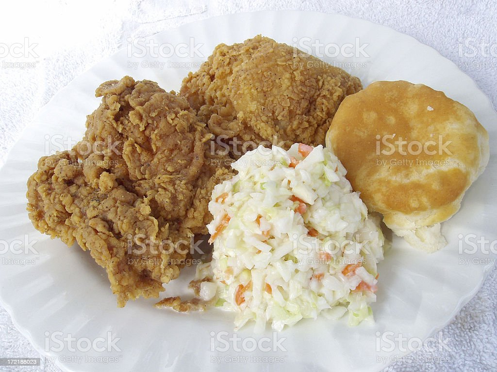 Fried Chicken Plate - Food royalty-free stock photo