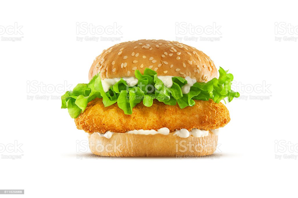 Fried Chicken Sandwich stock photo