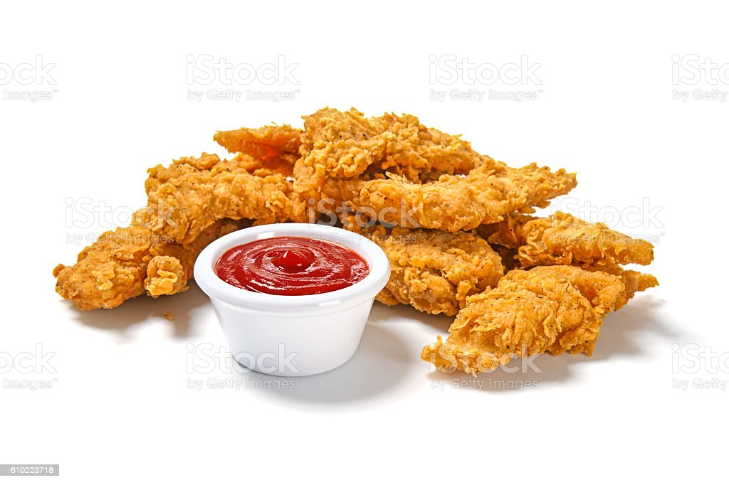 Fried Chicken Strips stock photo