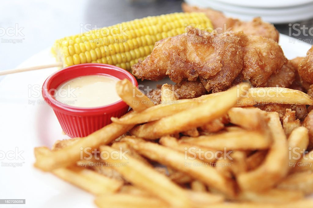 Fried Chicken tinders XXXL royalty-free stock photo