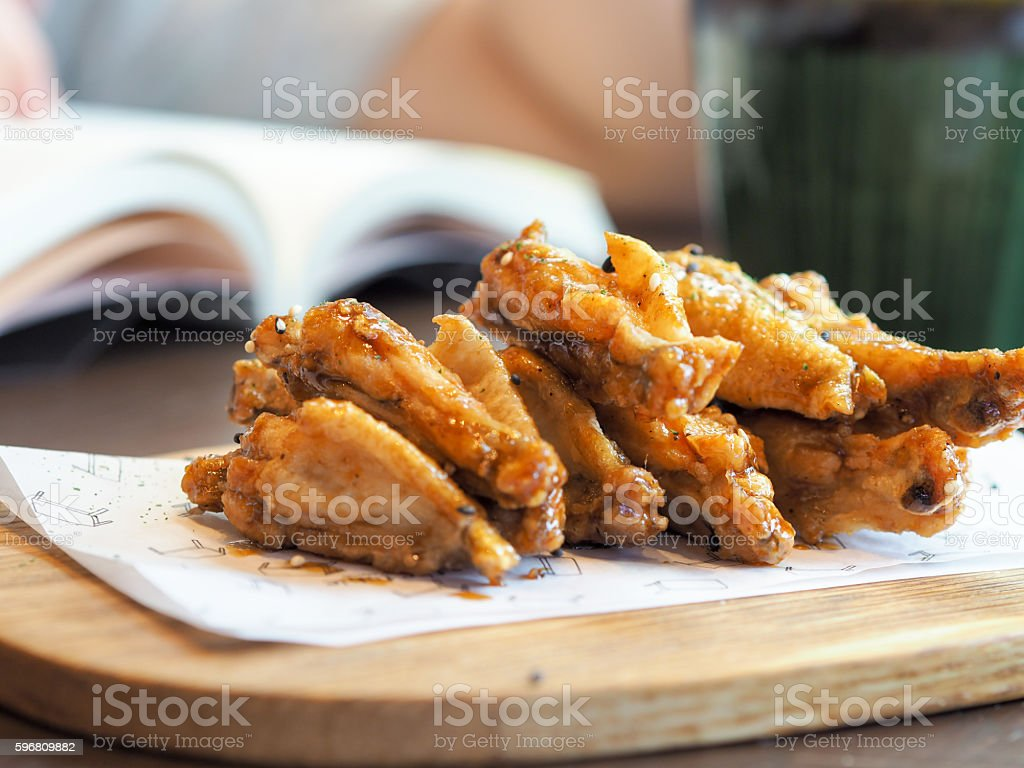 Fried chiken wing stock photo