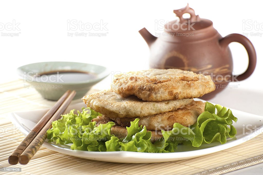 Fried chinese pancakes royalty-free stock photo