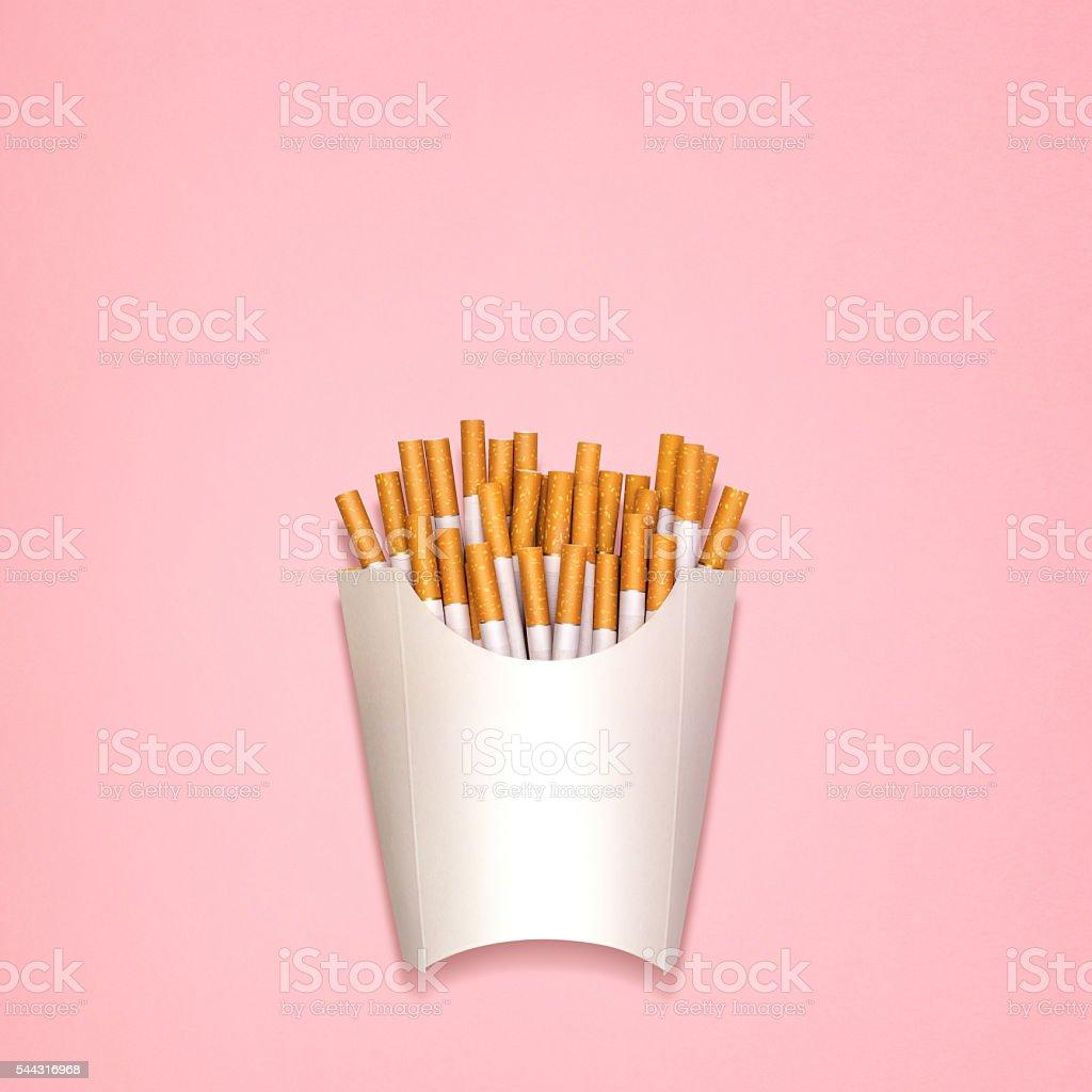 Fried cigarettes. stock photo