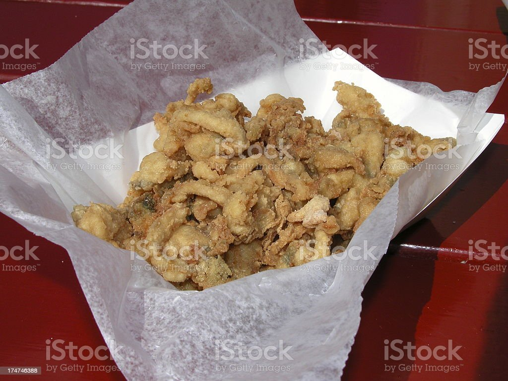Fried clams stock photo