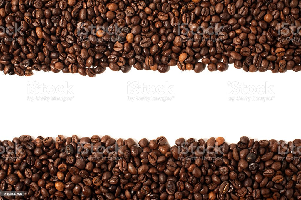 fried coffee grains background High Quality with space for text stock photo