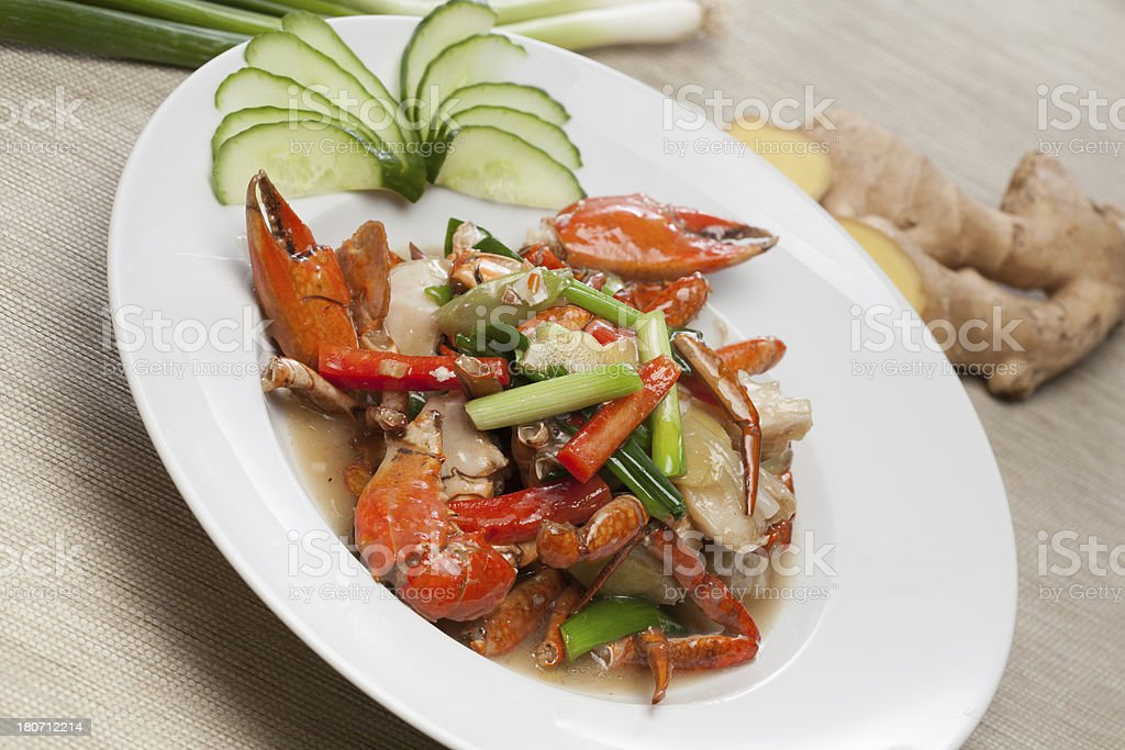 fried crab royalty-free stock photo