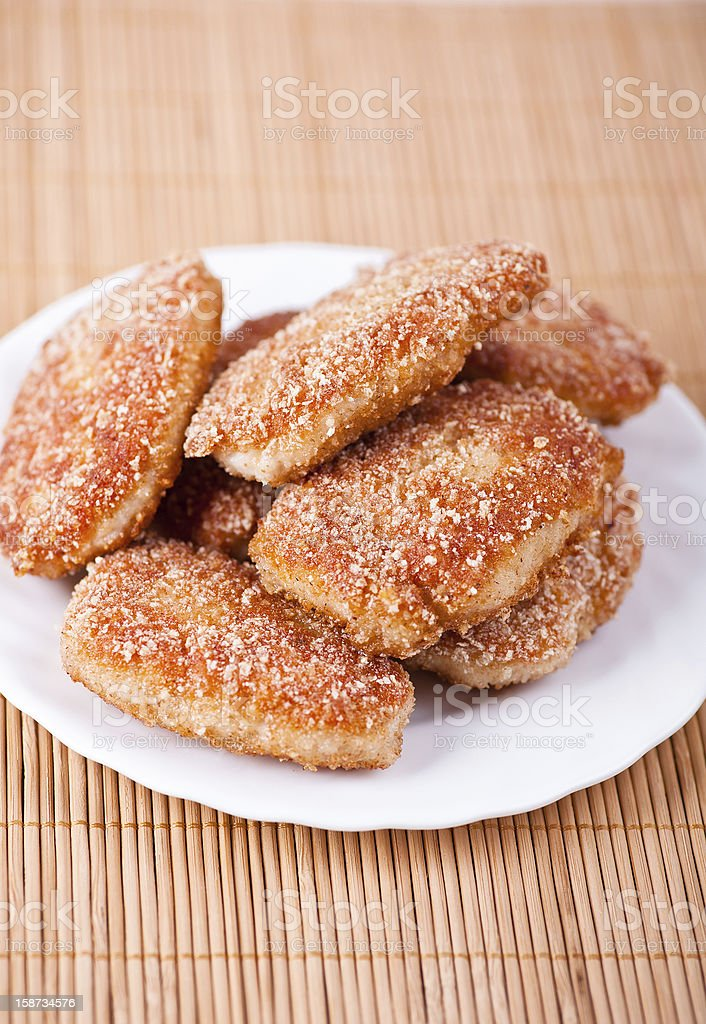 fried cutlet in bread crumbs royalty-free stock photo
