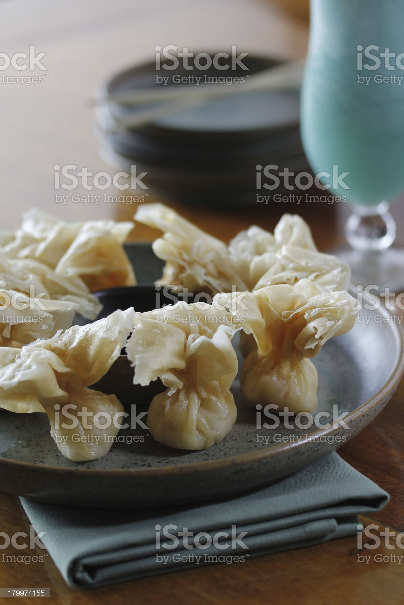 Fried Dumplings royalty-free stock photo