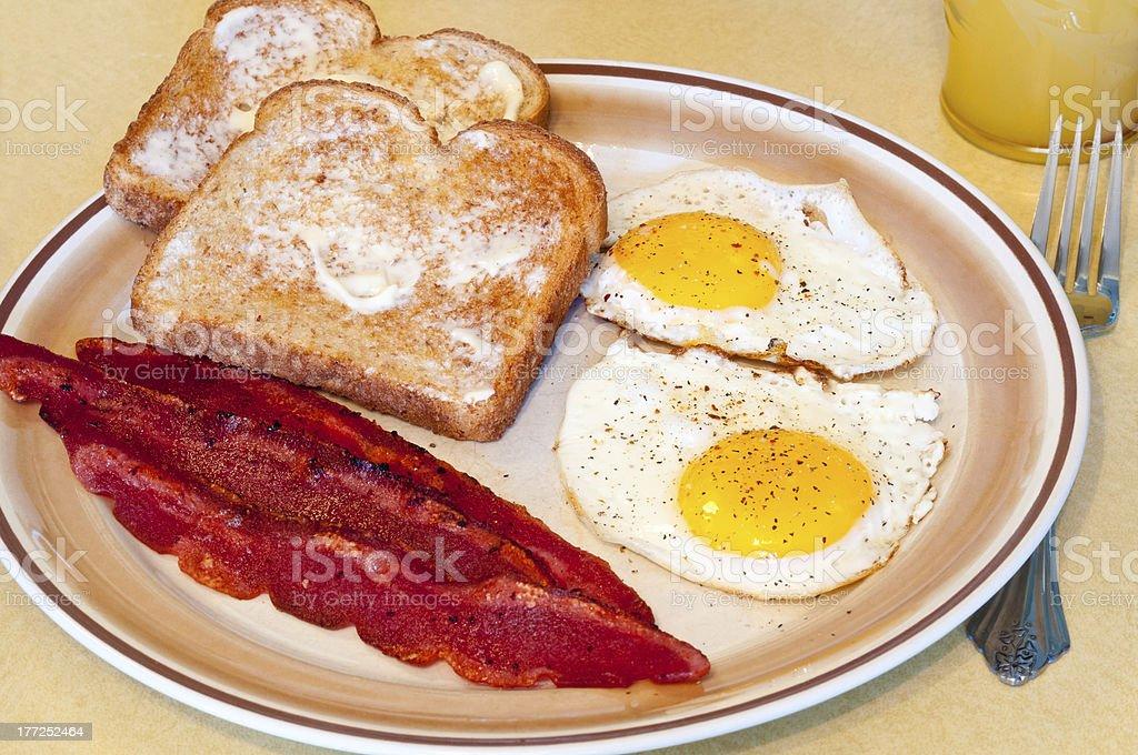 Fried egg breakfast stock photo