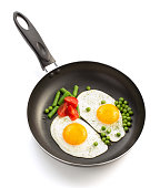 fried egg in frying pan